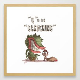 """""""G"""" Is For """"Gardening"""" Framed Art Print"""