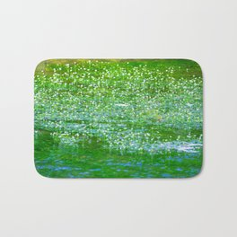 Starry flowers on the water Bath Mat