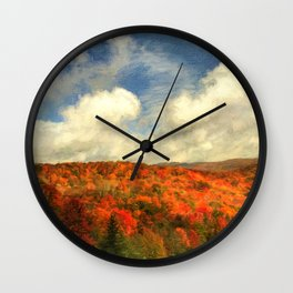 Fall in the Highlands Wall Clock