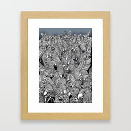 Birds of a feather .. Framed Art Print