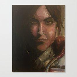 Lara Croft oil painting Canvas Print