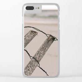 Santa Rosa Beach fence Clear iPhone Case