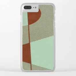 Mid Modern Retro Atomic Clear iPhone Case