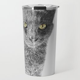 Wolf the Cat 439 2 Travel Mug