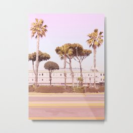 Urban Summer and Palms Metal Print