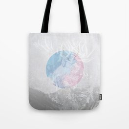 Pink Blue Grace Tote Bag