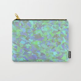 Green Blue Urban Camouflage Carry-All Pouch