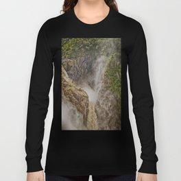 Beautiful waterfall in the rainforest Long Sleeve T-shirt