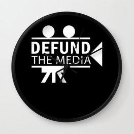 Politics Defund The Media Gift Wall Clock