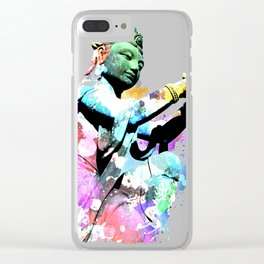 Gift Design Idea for Meditation Yoga Lovers Buddha Fan product Clear iPhone Case