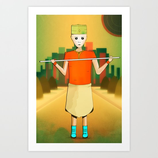 Robot Friend Art Print