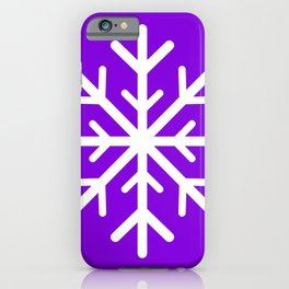 Snowflake (White & Violet) iPhone Case