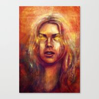 bad wolf Canvas Prints featuring Bad Wolf by Five-Oclock