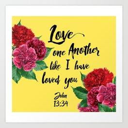 John 13:34 Art Print