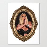 britney Canvas Prints featuring Britney Prays by eriicms