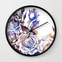 Rose Bloom Nebula Wall Clock