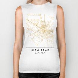 SIEM REAP CAMBODIA CITY STREET MAP ART Biker Tank