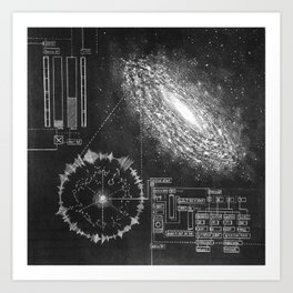 Galaxy and the structure of music! Art Print