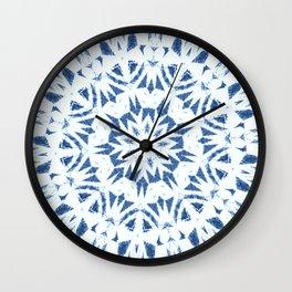 Snowflake Denim & White Wall Clock