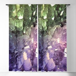 Two Tone Crystal Geode Blackout Curtain