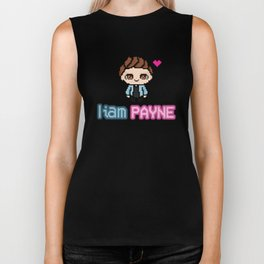 Pixel Liam Payne (One Direction) Biker Tank