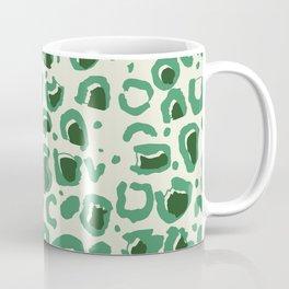 Leopard Skin Inspire Pattern Green Coffee Mug