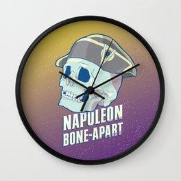 Skullture: Napoleon Bone-Apart Wall Clock