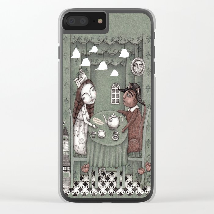 When it Rains Outside Clear iPhone Case