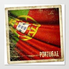 Portugal grunge sticker flag Canvas Print