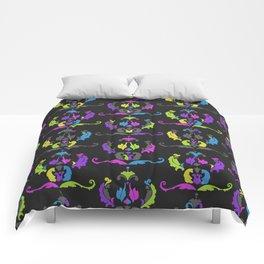 Damask Print Fluoro Comforters