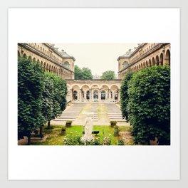 Hôtel-Dieu de Paris Art Print