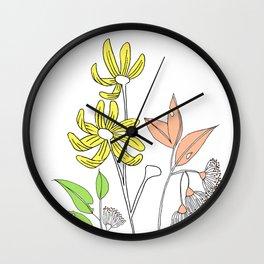 Bush Flowers Wall Clock