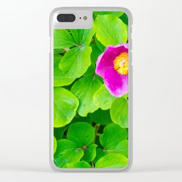 little pink flowes Clear iPhone Case