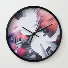Artistic LXXX - Abstract Fractal Lens CityScape II Wall Clock