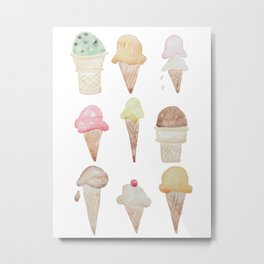 Ice Cream Paint Job Metal Print