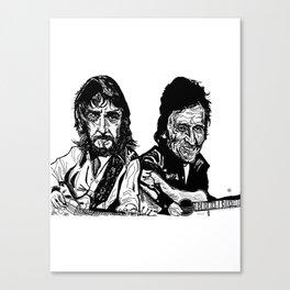 Waylon and Cash fan art Canvas Print