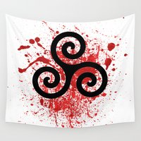 teen wolf Wall Tapestries featuring Triskele 2 by AlixInsanity