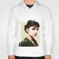 audrey hepburn Hoodies featuring Audrey Hepburn by Sophie Eves
