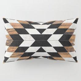 Urban Tribal Pattern 13 - Aztec - Concrete and Wood Pillow Sham