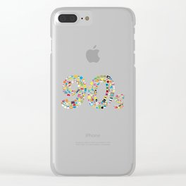 90s Kid Clear iPhone Case