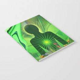 Heart Chakra Energy. Notebook