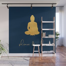 Gold Buddha - Silence & Smile Wall Mural