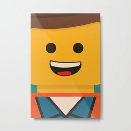 LEGO - Emmet  Metal Print