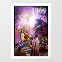 woodstock Art Prints featuring Woodstock 1969 by ZiggyChristenson