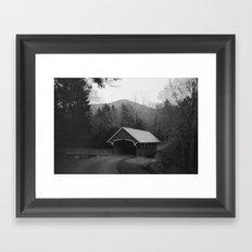 New England Classic Covered Bridge Framed Art Print