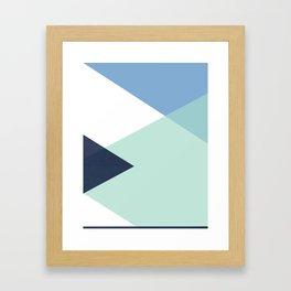 Geometrics - seafoam & blue concrete Framed Art Print