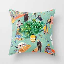 Compost Awareness Week Throw Pillow