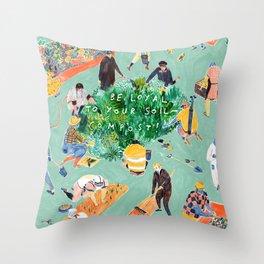 Compost Awareness Week Throw Pillow