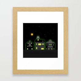 Haunted Houses Framed Art Print
