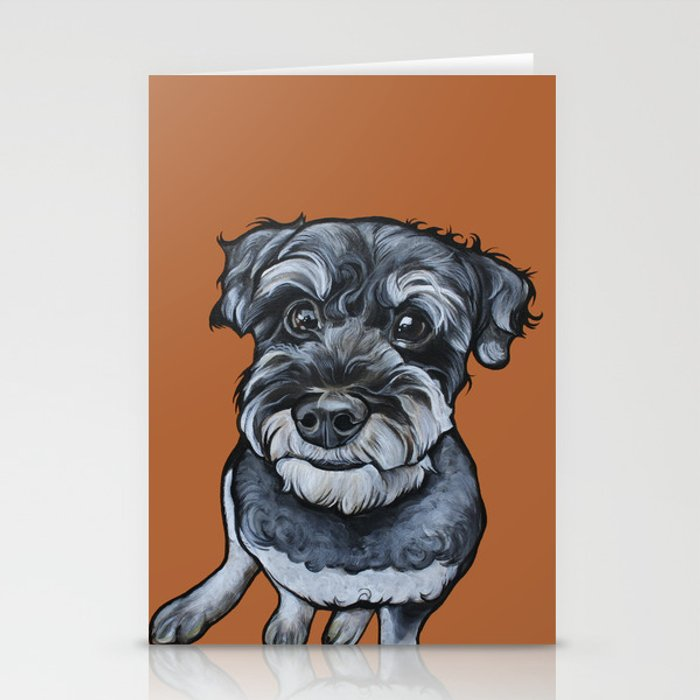 Frankie the Schnoodle Stationery Cards